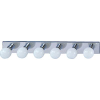 "36"" 6 Lights Bath Vanity Bar Light, Medium Base, Chrome"
