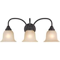 Boston Harbor LYB130928-3VL-VB Vanity Fixture, A19/CFL, 60/13 W, 3 Light