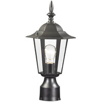 LIGHT POST LANTERN MED BLACK