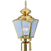 1 Light Brass Post Coach Lantern