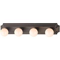 Boston Harbor 045234-VB Vanity Bar Fixture, Type G, 100 W, 4 Light