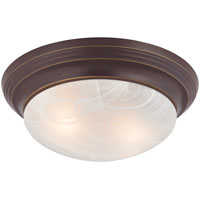 Boston Harbor 563116VB Ceiling Fixture, A19/CFL, 60/13 W, 2 Lamp
