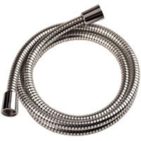 MintCraft B1101CP Shower Hose With Hex Nuts, For Use With Handheld Shower Head, 72 in Mylar Hose, Chrome, Black