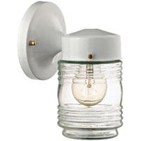 Boston Harbor HV-66919-WH-3L Jelly Jar Porch Light Fixture, Medium, 60 W, 1 Lamp