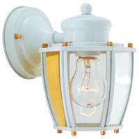 Boston Harbor HV-66961-WH Lantern Porch Light Fixture, Medium, 60 W, 1 Lamp