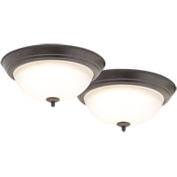 2PK 13IN LED CEILING LIGHT BRZ