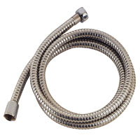 MintCraft B42034 Shower Hose With Hex Nuts, 72 in Hose, PVC, Stainless Steel
