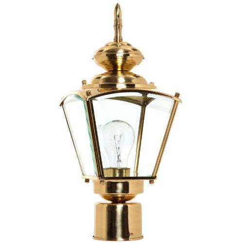 1 Light Brass Post Coach Lantern