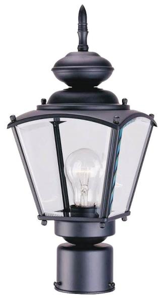 FIXTURE POST LANTERN 1LT BLACK