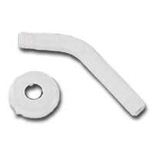 MintCraft B1140WH Shower Arm With Flange, Plastic, White