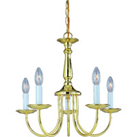 Boston Harbor Williamsburg RF01 Chandelier, 60 W, Candelabra Base, 5 Lamp