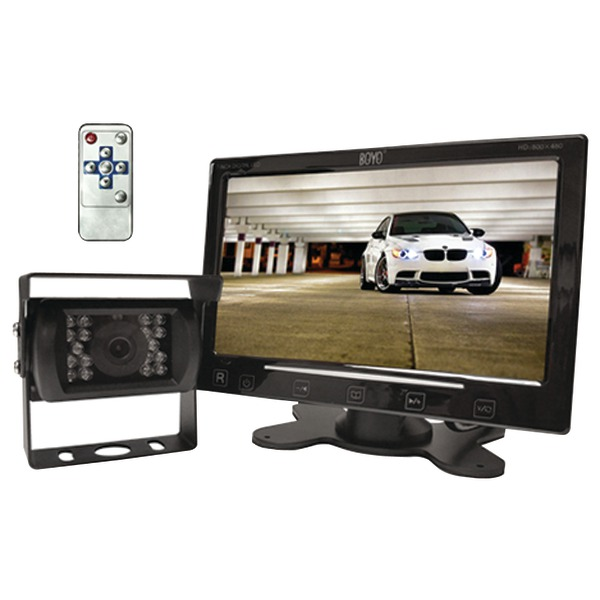 "BOYO Vision VTC307M 7"" Digital TFT/LCD Monitor with Heavy-Duty Bracket-Mount Camera"