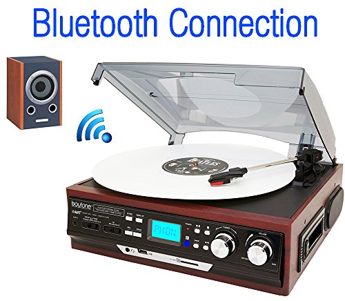 BOYTONE BT37MC AM FM CASSETTE TURNTABLE BLUETOOTH 3 SPEED