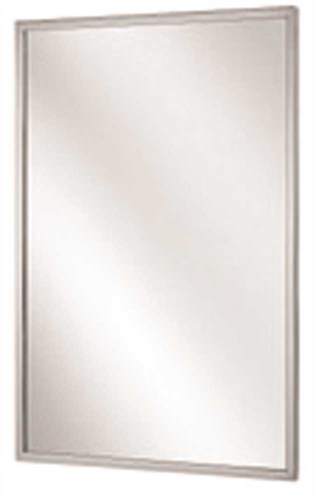 BRADLEY CHANNEL FRAME MIRROR, STAINLESS STEEL, 24X30 IN.