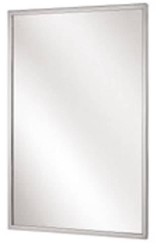"18"" x 30"" Bradley Channel Frame Mirror, Stainless Steel"