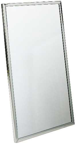 BRADLEY CHANNEL FRAME MIRROR, STAINLESS STEEL, 24X60 IN.
