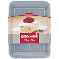 Good Cook 4009 Non-Stick Cake Pan, 13 in L X 9 in W, Steel
