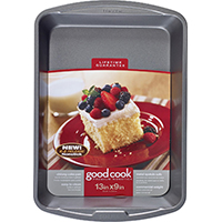 Good Cook 4010 Non-Stick Oblong Cake Pan, 13 in L X 9 in W, Steel
