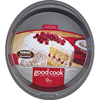 Good Cook 4016 Non-Stick Cake Pan, 9 in Dia, Steel