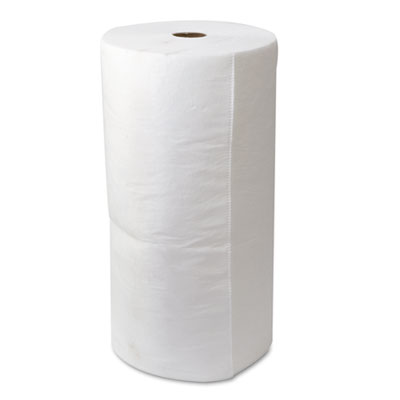 "ENV MAXX Enhanced Oil-Only Sorbent-Pad Roll, 54gal, 30"" x 150ft, White"