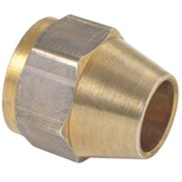 BrassCraft FO-6 Tube Nut, 3/8 in, Flared, Brass