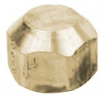 BrassCraft M40-10 Gas Tube Cap, 5/8 in, Flared, 0.5 psi, Brass, Rough, -40 TO 150 deg F