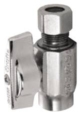 BRASSCRAFT STRAIGHT STOP 1/2 IN. SWEAT X 3/8 IN. COMPRESSION, LEAD FREE