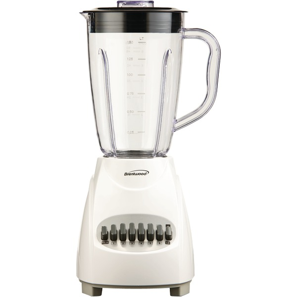 BRENTWOOD JB-220W 12-Speed Blender with Plastic Jar (White)