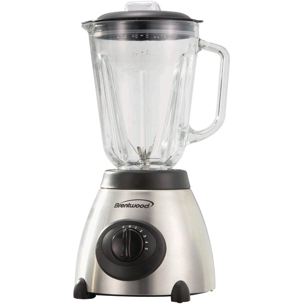 Brentwood JB-800 5-Speed Blender with Stainless Steel Base and Glass Jar