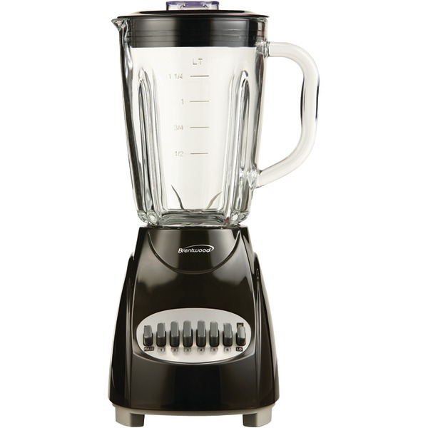 Brentwood Jb-920B 12-Speed Countertop Blender With Glass Jar (Black)