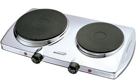 Brentwood BRENTWOOD TS-372 1,440-Watt Electric Double Hot Plate per EA