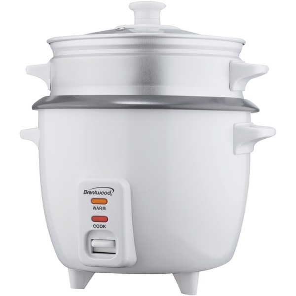 BRENTWOOD TS-480S Rice Cooker with Steamer (15 Cups; 900W)
