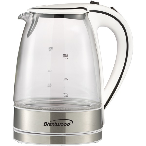 Brentwood Appliances KT-1900W 1.7-Liter Glass Electric Kettle