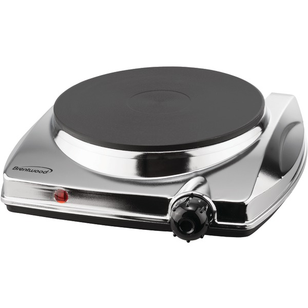 Brentwood Appliances TS-337 Electric Single Hotplate with Chrome Finish