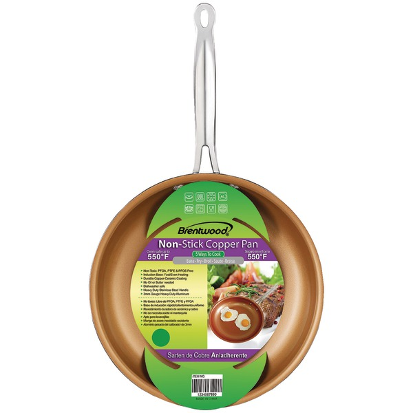 """Brentwood Appliances BFP-320C Nonstick Induction Copper Fry Pan (8"""")"""