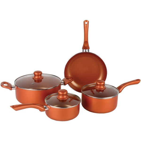 Brentwood Appliances BPS-107C 7-Piece Ceramic Aluminum Nonstick Cookware Set