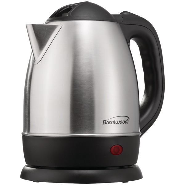 Brentwood Appliances KT-1770 1.2-Liter Stainless Steel Electric Cordless Tea Kettle
