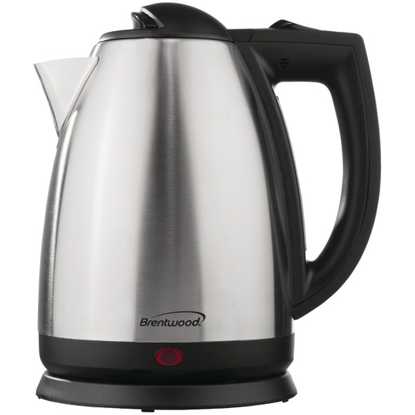 Brentwood Appliances KT-1800 2-Liter Stainless Steel Electric Cordless Tea Kettle
