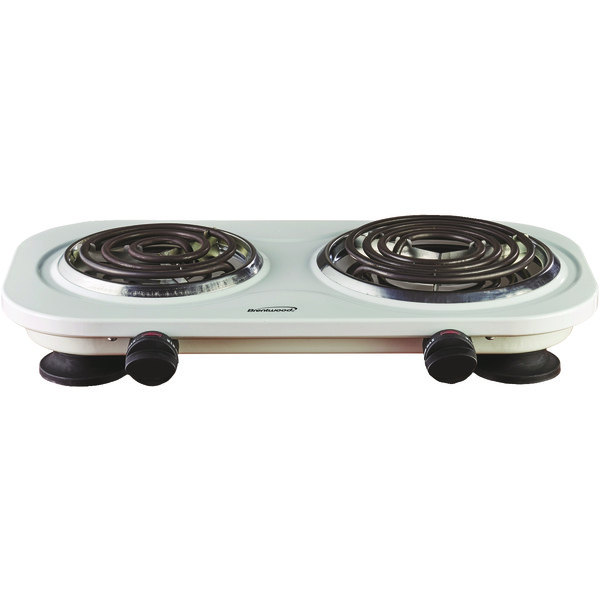 Brentwood Appliances TS-361W Electric 1,500-Watt Double Burner