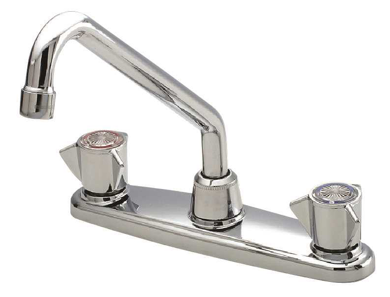 Sayco Two Handle Kitchen Faucet, Chrome