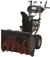 BRIGGS & STRATTON� DUAL STAGE SNOW THROWER, 250CC, ELECTRIC START, MEDIUM DUTY, 27 IN.