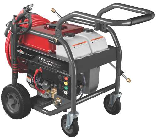 BRIGGS & STRATTON PRESSURE WASHER, ELITE, ELECTRIC START, 3300 PSI