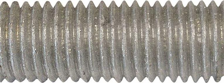 Porteous 170-3006-504/024 Threaded Rod, 5/8-11 x 6 ft, Carbon Steel, Hot Dip Galvanized, Grade A