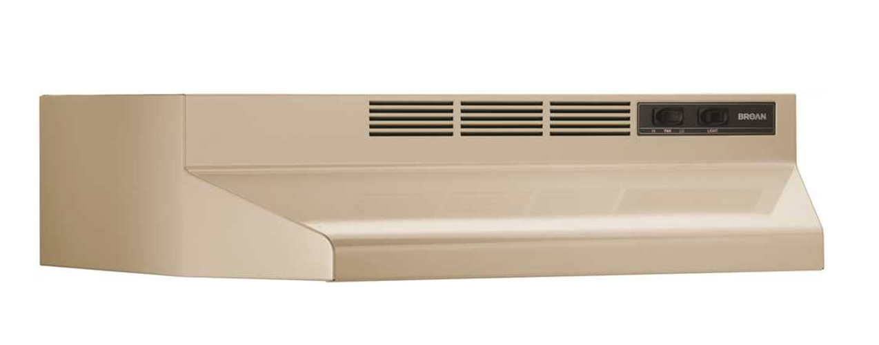 BROAN� 24-INCH UNDER-CABINET NON-DUCTED RANGE HOOD, ALMOND