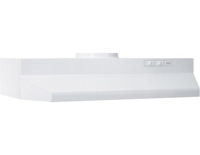 BROAN� 30-INCH 2-SPEED UNDER-CABINET ROUND RANGE HOOD, WHITE, 190 CFM