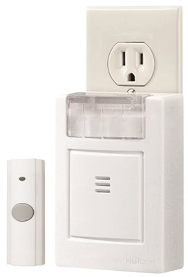 NUTONE� PLUG-IN DOOR CHIME KIT WITH STROBE LIGHT, WHITE, 3-3/4 X 4-1/2 X 1-5/8 IN.
