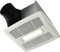 BROAN� INVENT� SINGLE-SPEED BATHROOM EXHAUST FAN WITH LED LIGHT, 80 CFM, 0.8 SONES, 11-3/4 X 12-1/2 IN., WHITE