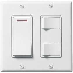 2 Gang Control W/Pilot Light Switch White