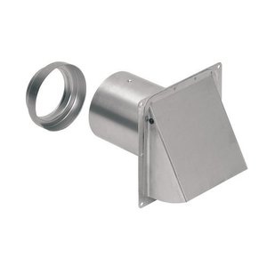 Wall Cap For 3 & 4 Round Duct Aluminum