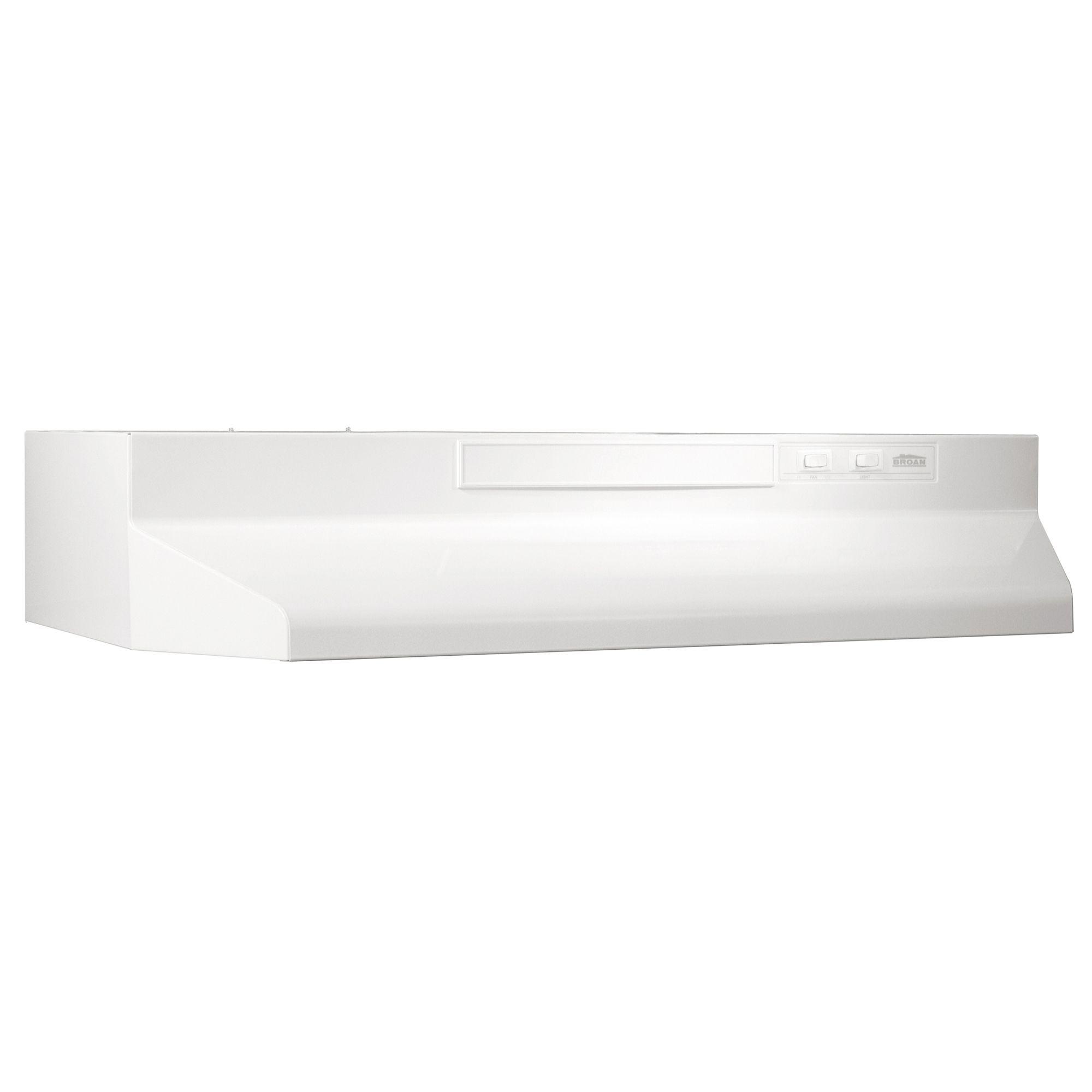 24 Under Cabinet 2 Speed Range Hood White on White